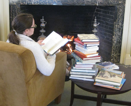 Books and fireplacex440