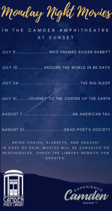 Summer Movies and Concerts in the Amphitheatre