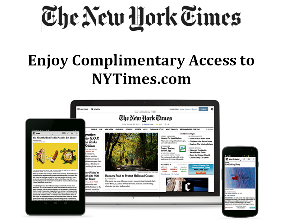 New York Times Subscription with your Library Card
