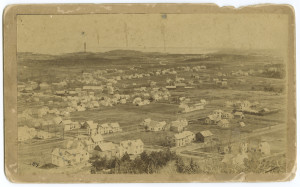 View of Camden from Mt. Battie looking southwest toward Rockport in 1891.