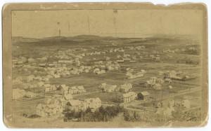 View of Camden from Mt. Battie looking southwest toward Rockport in 1891.