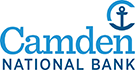 Camden National Bank blue anchor logo
