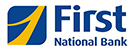 First National Bank blue and gold logo