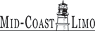 Mid-Coast Limo black lighthouse logo