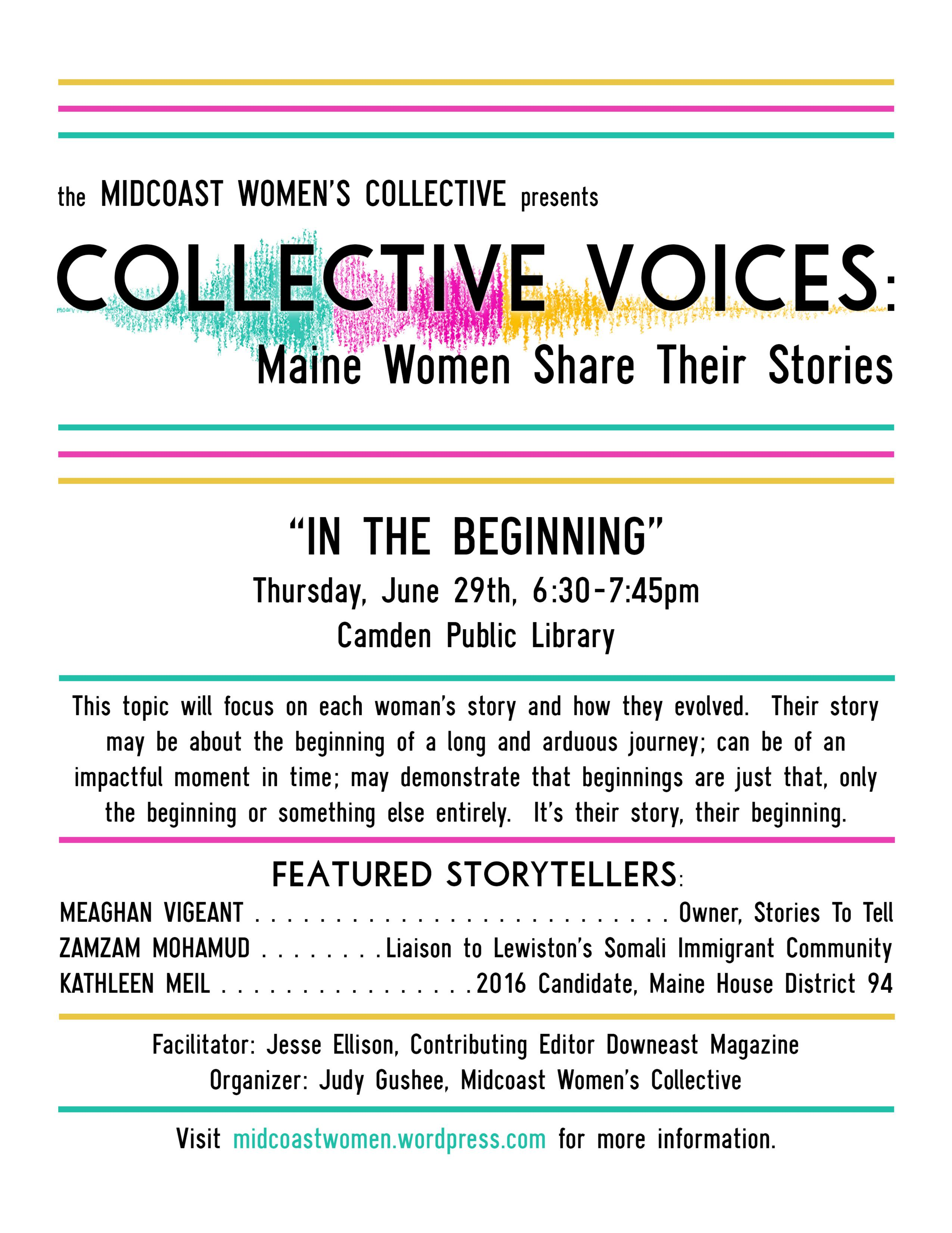 Midcoast Women's Collective Storytelling Event | Camden
