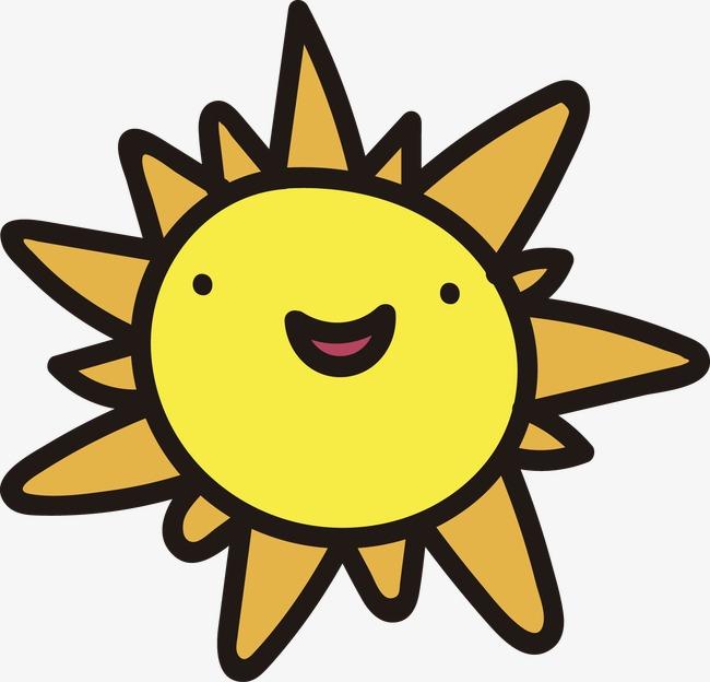 Смешное солнце рисунок